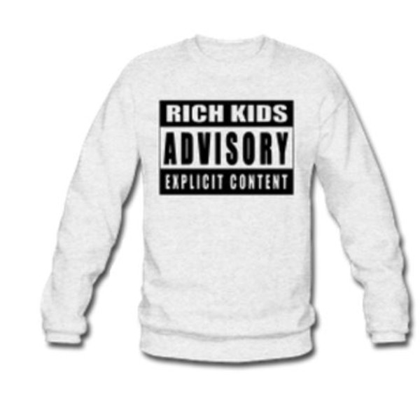 sweater girl kids fashion white guys black advisory swag