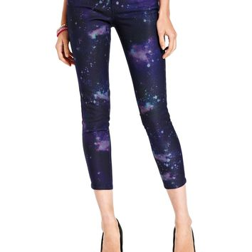 Celebrity Pink Jeans Juniors Jeans, Skinny Leg, Cropped Galaxy-Print - Juniors Jeans - Macy's on Wanelo