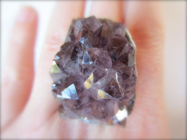 Amethyst Raw Crystal Ring by Callisto | BURKE DECOR