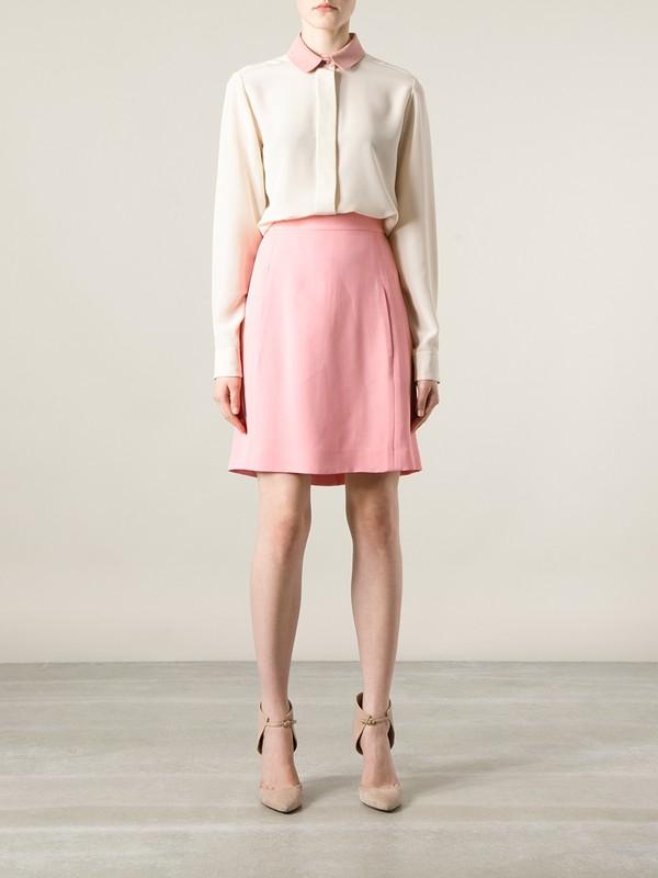 skirt chloe straight skirt pink skirt