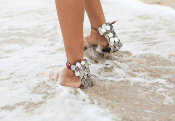 shoes Silver sandals silver sandals silver shoes studded silver stud shoes silver stud sandals metallic metallic sandals metallic shoes metallic beach wedding summer holidays sea wedding shoes
