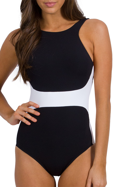High Neck Swimsuit - Browse