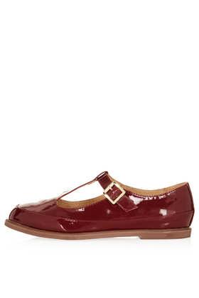 MARTIE Leather T Bar Geek Shoes - Flats - Shoes - Topshop