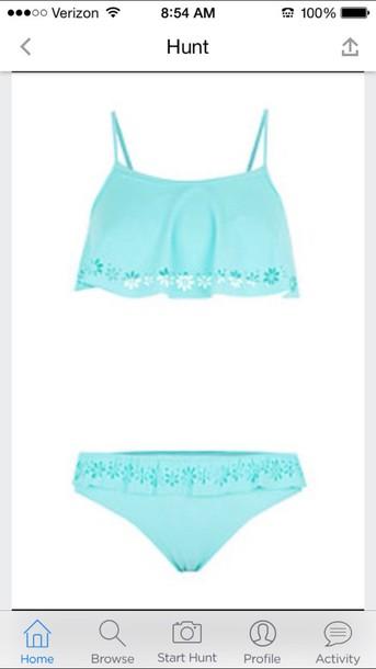 swimwear cute mint