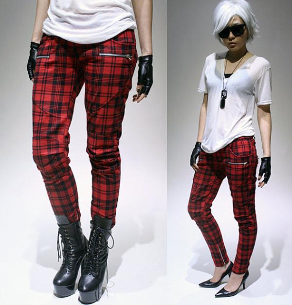 jeans plaid