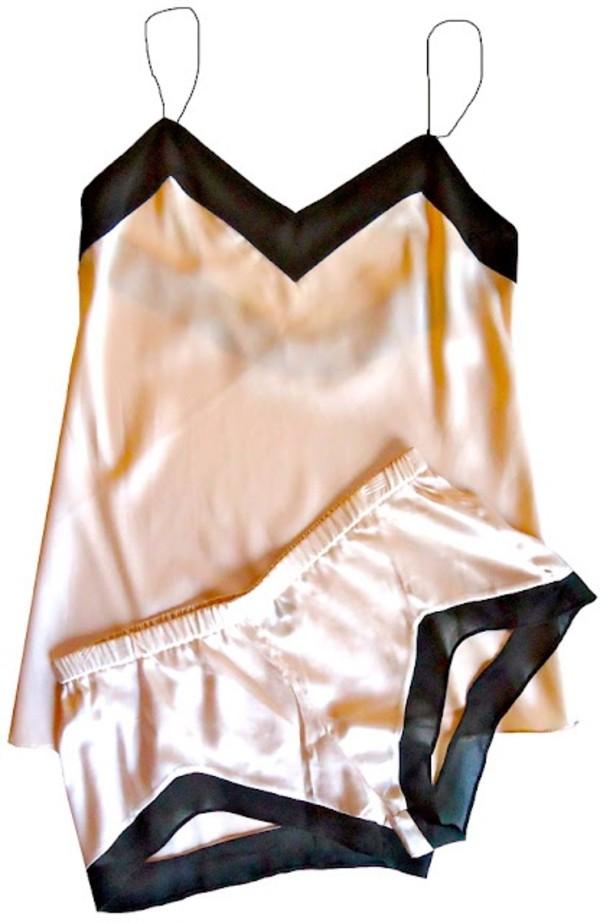 pajamas silk pajamas clothes shorts nightwear pajamas tank top style fashion underwear sleepwear