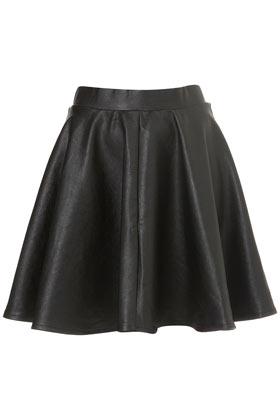 Black Full Skater Skirt - Topshop