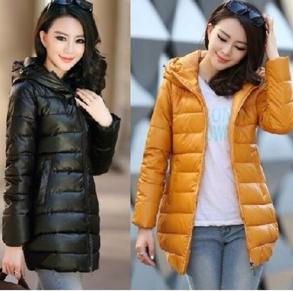 coat yellow black puffy down jacket puffer jacket