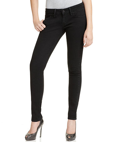 Levi's Juniors Jeans, 524 Skinny Black Wash - Juniors Jeans - Macy's