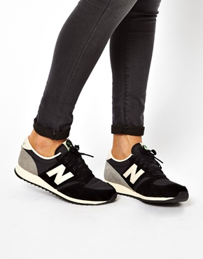 New Balance | New Balance 420 Black And Gray Suede Sneakers at ASOS