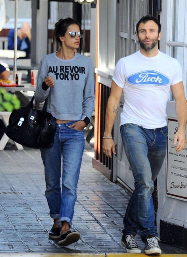 shirt alessandra ambrosio shoes quote on it