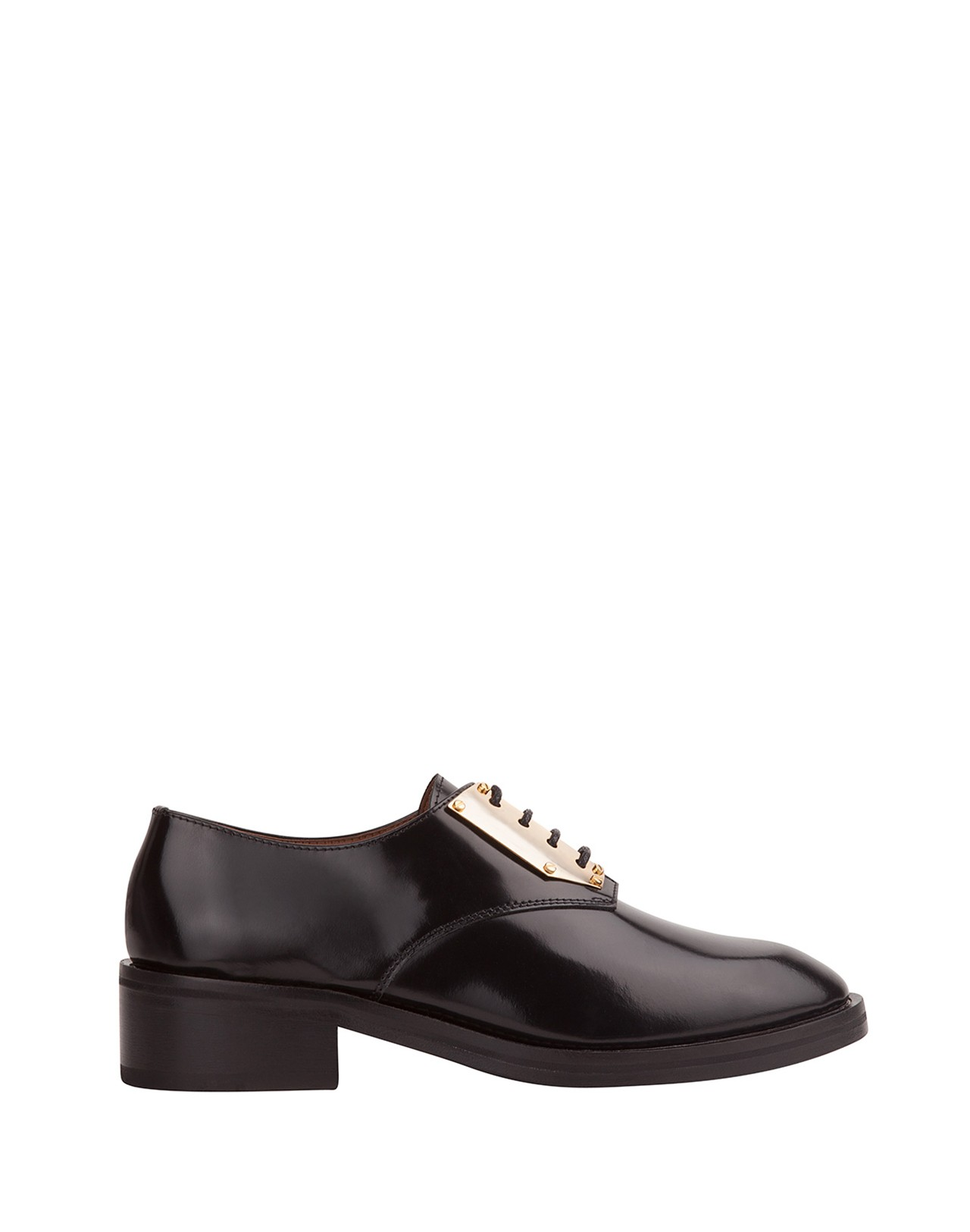 Amoureuse Metal Plated Derby Shoe