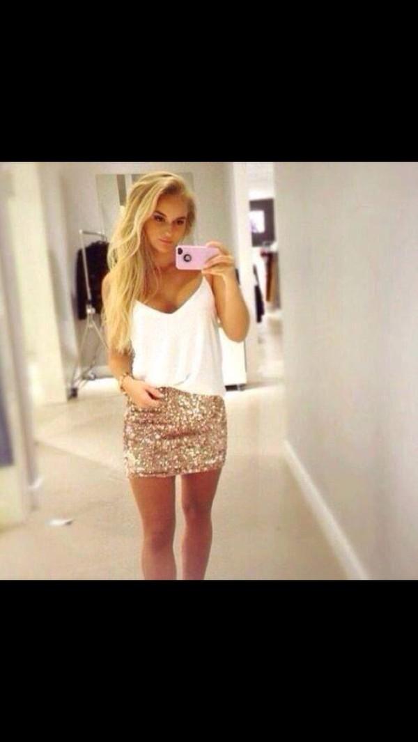 skirt top glitter