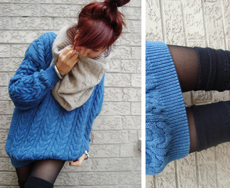 sweater blue oversized oversized sweater knit knitwear knitted sweater low low pullover pullover blue sweater holey knit sweater