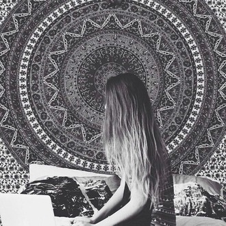 home accessory grunge beautiful decoration tapestry home decor hipster black and white