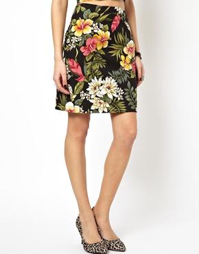 ASOS | ASOS Reclaimed Vintage Skirt in Hawaiian Print at ASOS