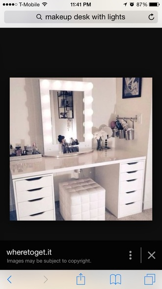 home accessory makeup table