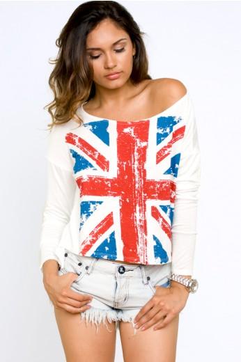 British Flag Tee- $38