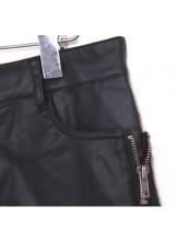 Cuffed Leatherette Shorts
