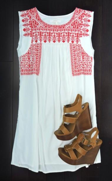 dress preppy preppy dress red and white