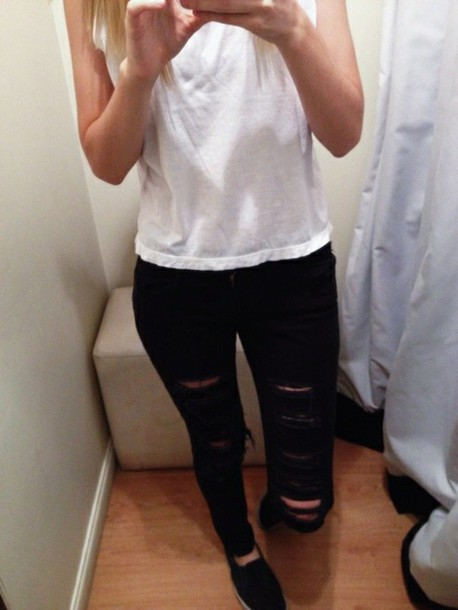 jeans portugal hole ripped jeans ripped pants
