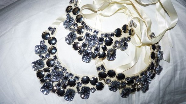 jewelery black ribbon necklace