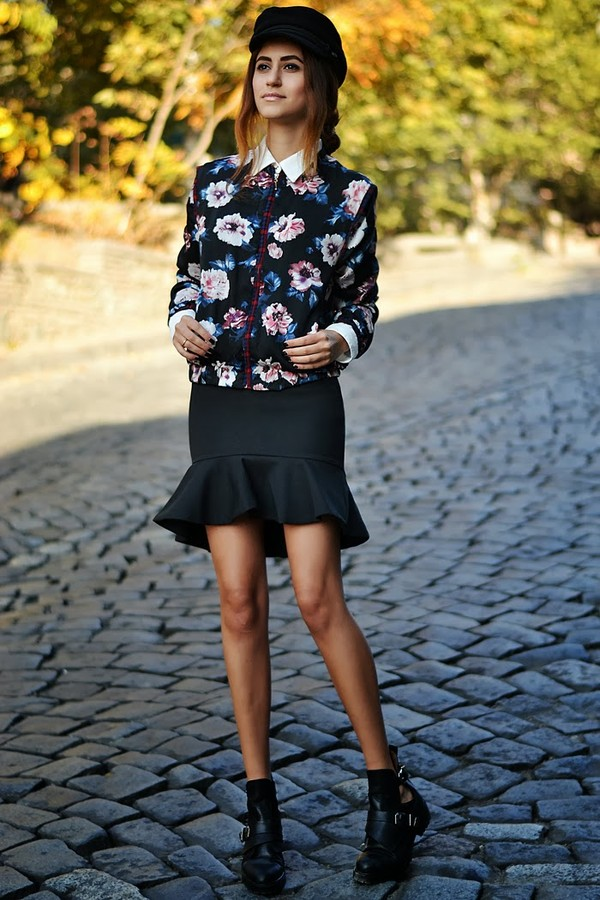 tina sizonova jacket hat skirt shirt shoes
