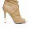 Peep toe wrap around heel - camel