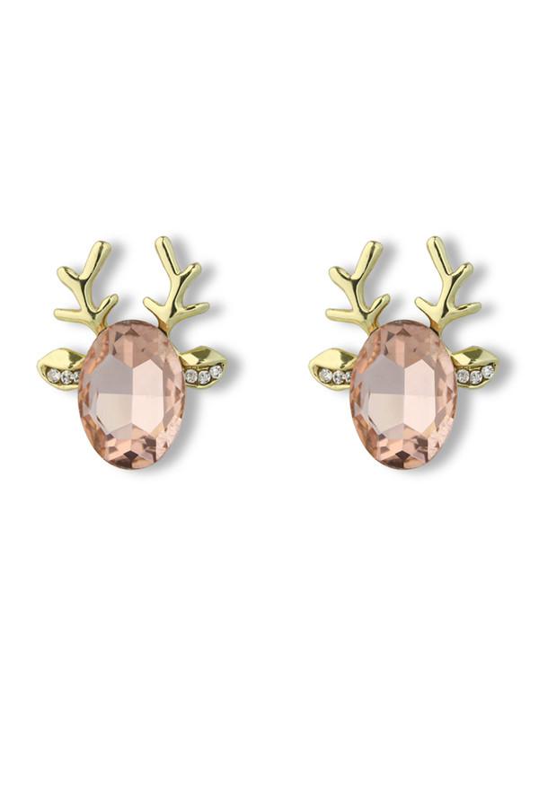 jewels deer beaded earrings