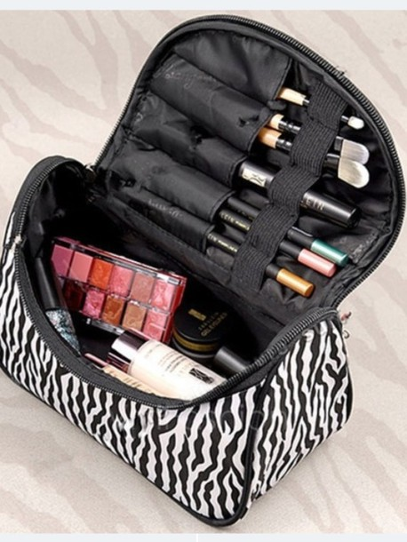 bag makeup bag makeup bag leopard print zebra