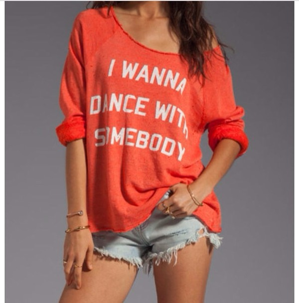 sweater red dance with somebody