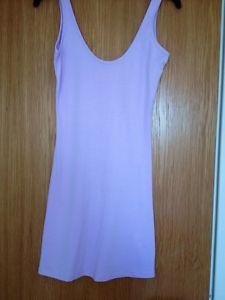 Pale Lilac/purple Stretch Long Vest/ Mini Dress Size 8   eBay