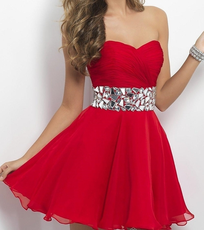 Beaded Sashes Red Party Dress · Humbly Glam · Online Store Powered by Storenvy