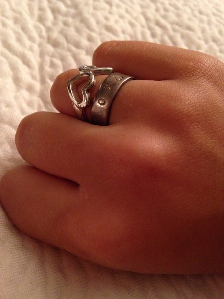 jewels ring xoxo heart silver ring