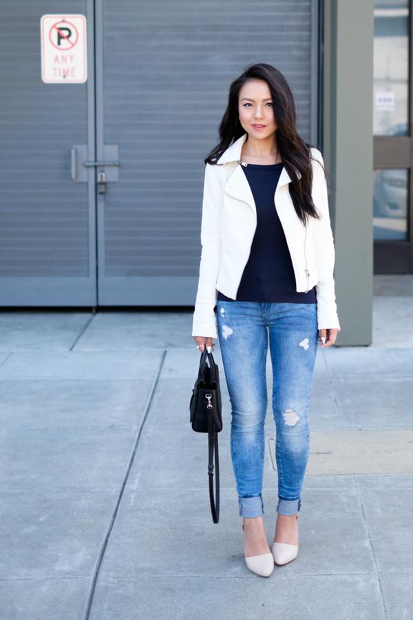 the fancy pants report top jeans jacket shoes sunglasses bag