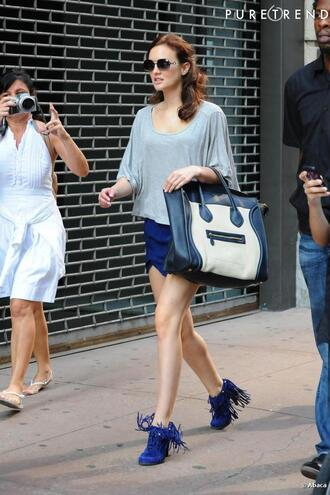 shoes blair waldorf blair gossip girl blue fringes bag shorts