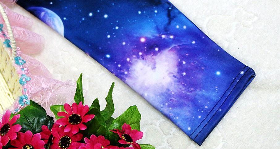 Womens Girl's Aurora Space Galaxy Star Graphic Printed Leggings Pants Tights New | eBay