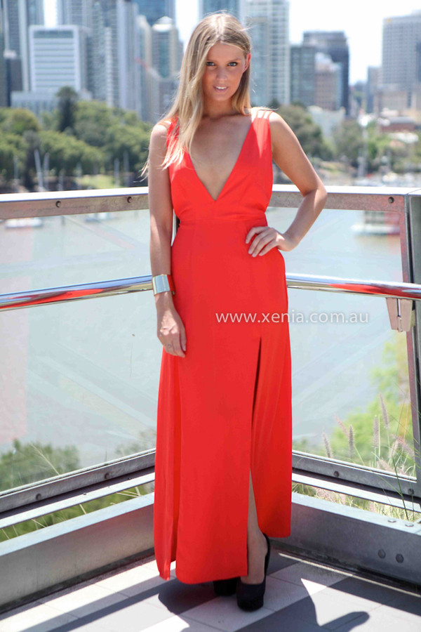 dress women's clothing red maxi dress xeniaboutique red dress ootd