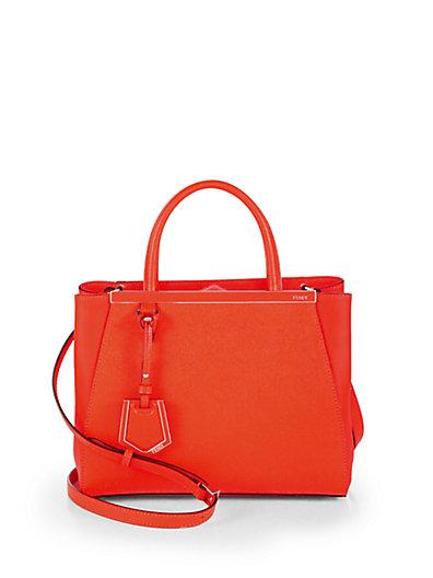 Fendi - 2Jours Petite Leather Shopper - Saks.com