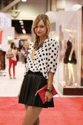 pop culture afternoon polka dots blouse