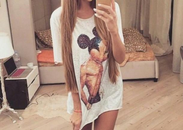 t-shirt mickey mouse oversized t-shirt