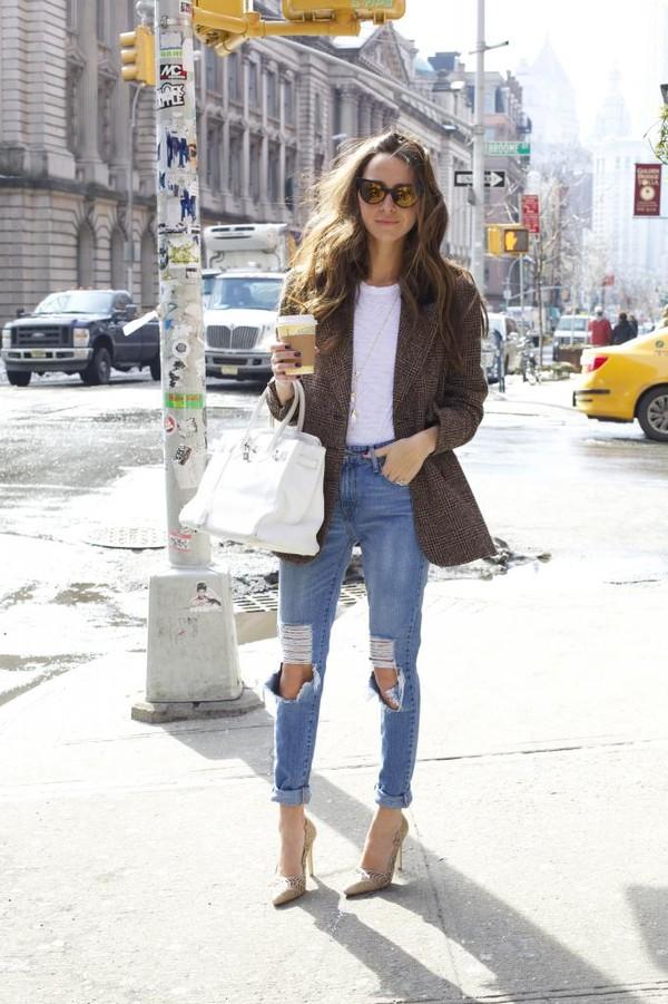 something navy jeans t-shirt jacket shoes sunglasses bag