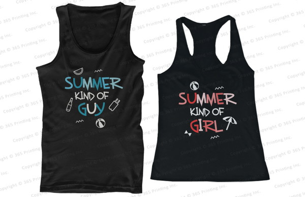 beach tank tops beachwear matching couples couple tank tops matching couple tank tops matching tank tops matching tank tops for couples summer kind of guy summer kind of girl his and hers clothing his and hers tank tops his and hers gifts matching couples mr and mrs shirts bf and gf pool tank tops