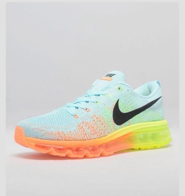 shoes rainbow nike nike running shoes colorful nikes white