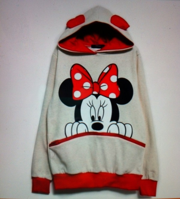 sweater minnie mouse red cute mickey mouse crazy