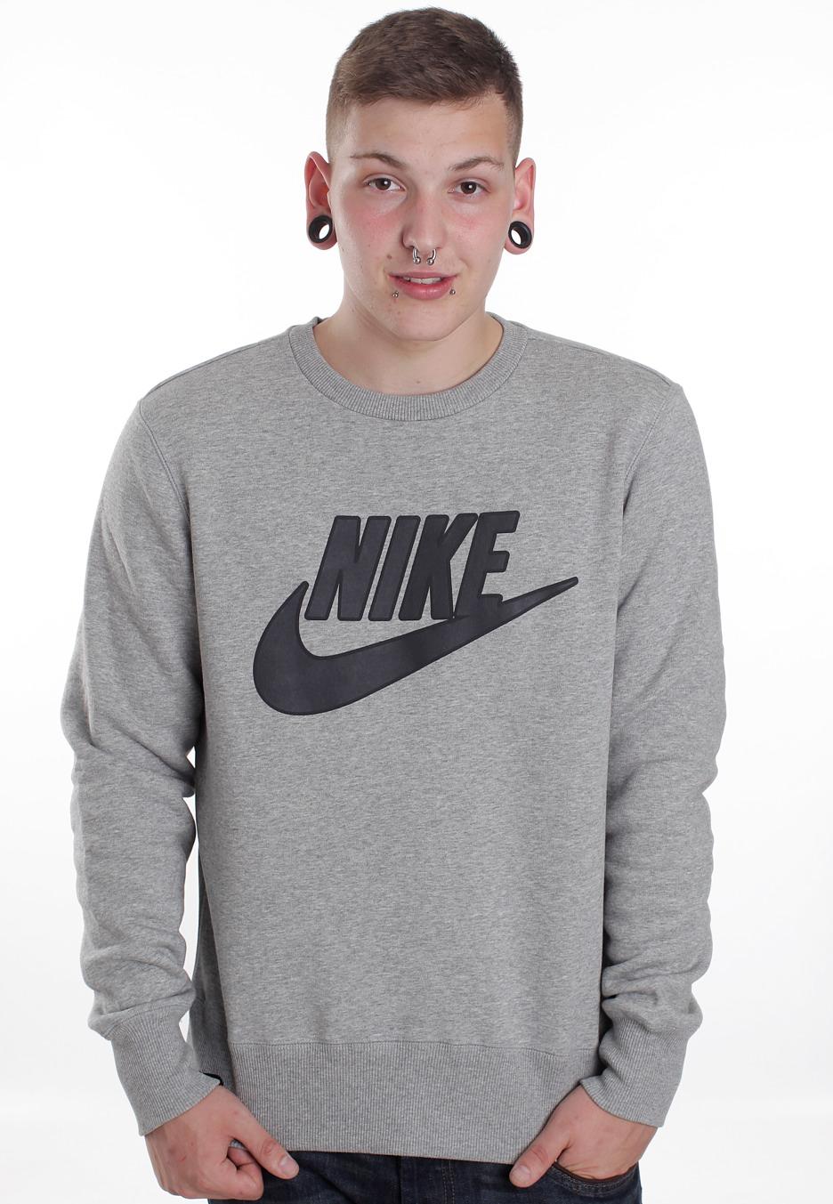 Nike - Brushed Dark Grey Heather - Sweater - Streetwear Online Shop - Impericon.com Worldwide