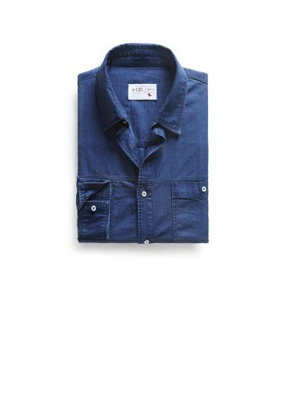 classic-fit ink denim shirt