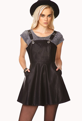 Rebel Darling Overall Dress | FOREVER21 - 2000072622