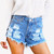 Daisy Stone Frayed Shorts | RUNWAYDREAMZ