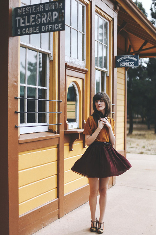 finch and fawn jacket scarf t-shirt skirt